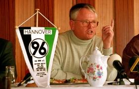 Fritz Willig Hannover 96 Präsident und Rechtsanwalt und Notar in Hannover. Hier bei Rücktritt PR. von Fritz Willig als Han96 Präsident am 02.10.1993.